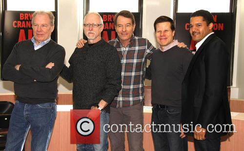 Michael McKean, Robert Schenkkan, Bryan Cranston, Bill Rauch, Brendon J. Dirden, Roundabout rehearsal space,