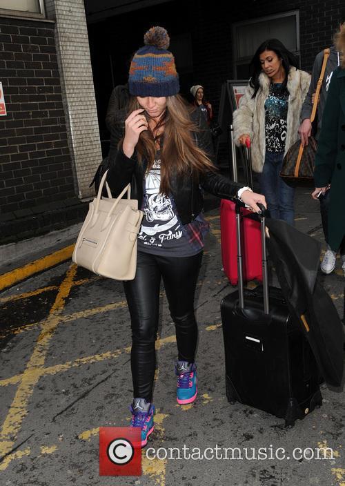 Brooke Vincent arrives at Euston