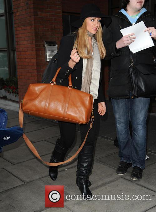 Catherine Tyldesley arrives at Euston