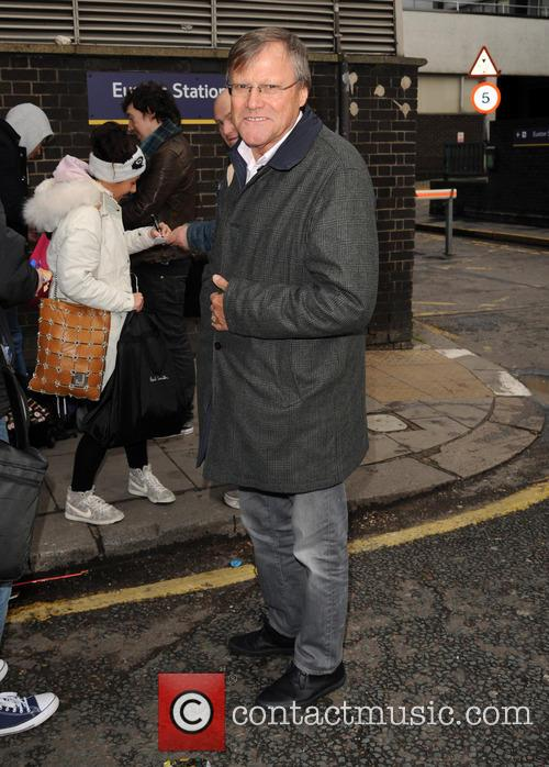 David Neilson arrives at Euston
