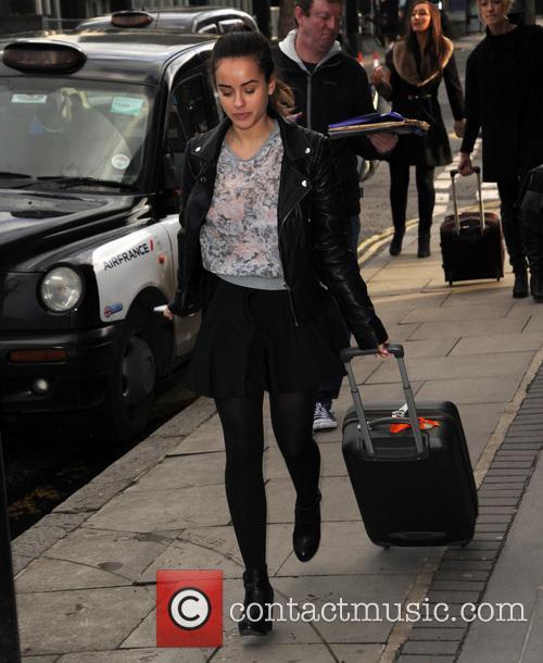 Georgia May Foote arrives at Euston