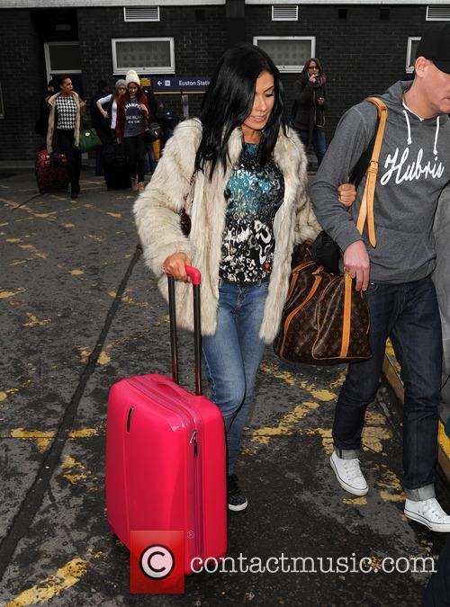 Kym Marsh arrives at Euston