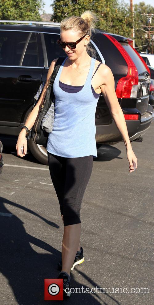 Naomi Watts departs a spin class