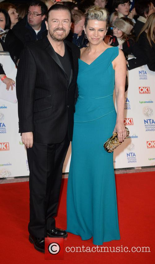 ricky gervais jane fallon the national television awards 4036163