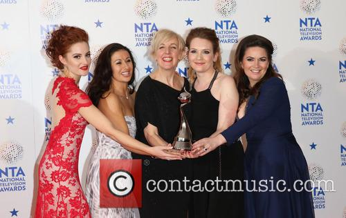Paula Lane, Hayley Tamaddon, Julie Hesmondhalgh, Jennie Mcalpine, Debbie Rush and Coronation Street