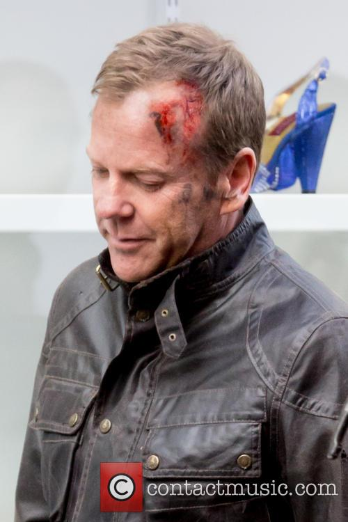 Kiefer Sutherland Filming 24 London Wound