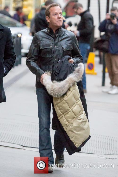 Kiefer Sutherland Filming 24 London On Set
