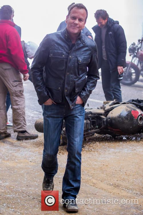 Kiefer Sutherland Filming 24 London Motorbike
