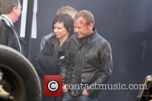 Kiefer Sutherland Filming 24 London