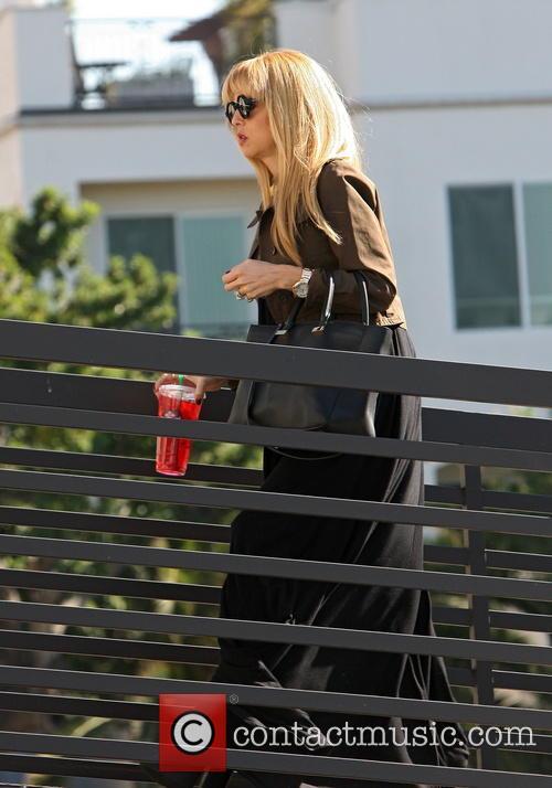 Rachel Zoe Arriving At Her Office
