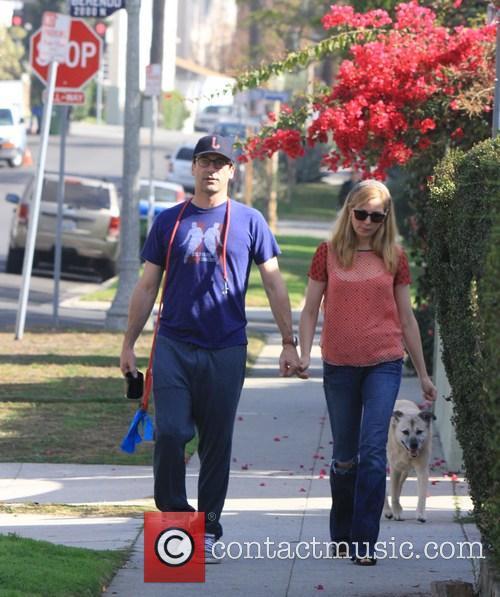 Jon Hamm and Jennifer Westfeldt Walk The Dog