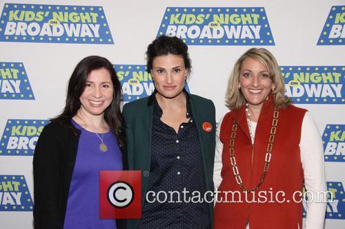 Rebecca Levey, Idina Menzel, Nancy Friedman, Sardi's restaurant,
