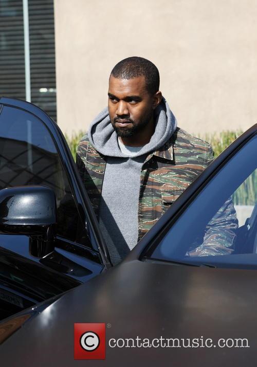 Kim Kardashian and Kanye West In West Hollywood