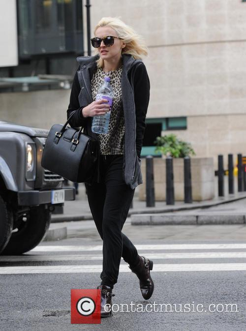 Fearne Cotton pictured leaving the BBC