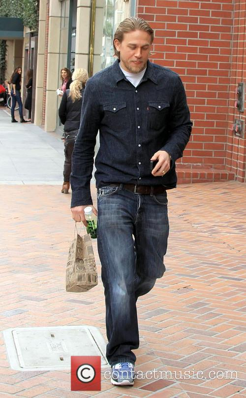 Charlie Hunnam shopping in Beverly Hills