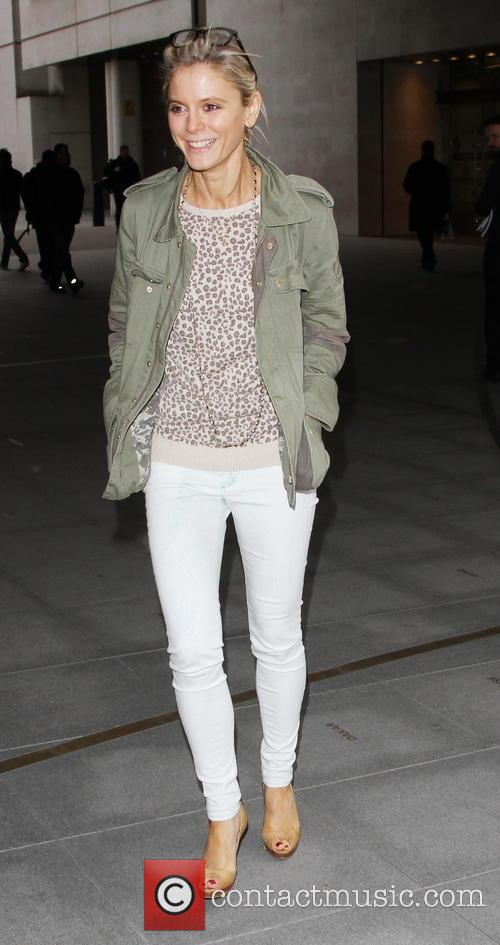 Emilia Fox visits the BBC Radio 2 studios