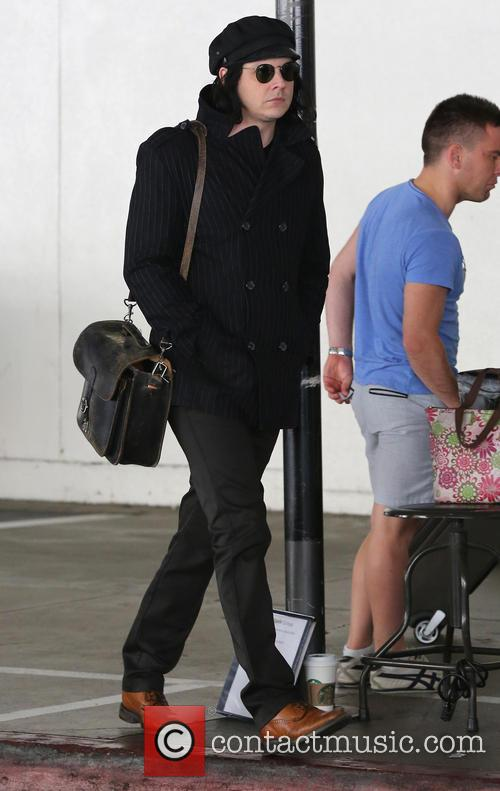 Jack White arrives at Los Angeles International (LAX)...