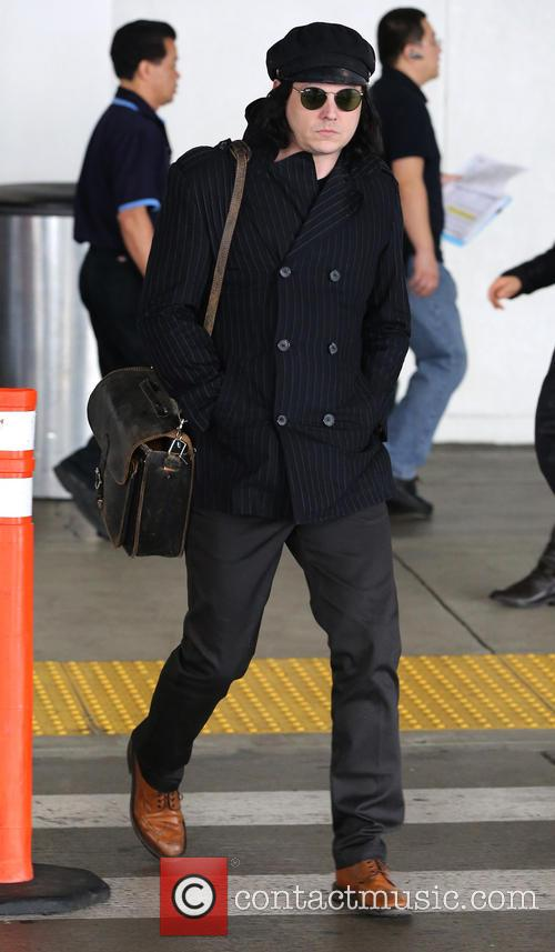 Jack White arrives at Los Angeles International (LAX) airport