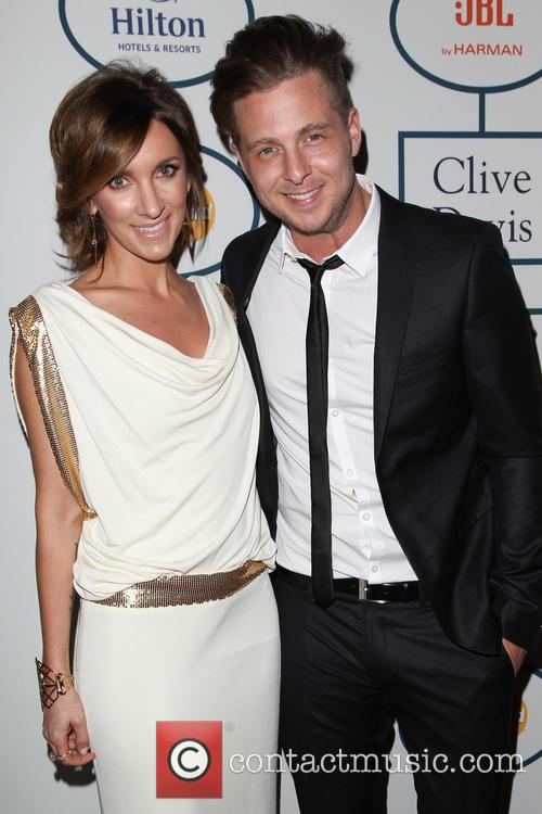 Clive Davis, Genevieve Tedder and Ryan Tedder 2