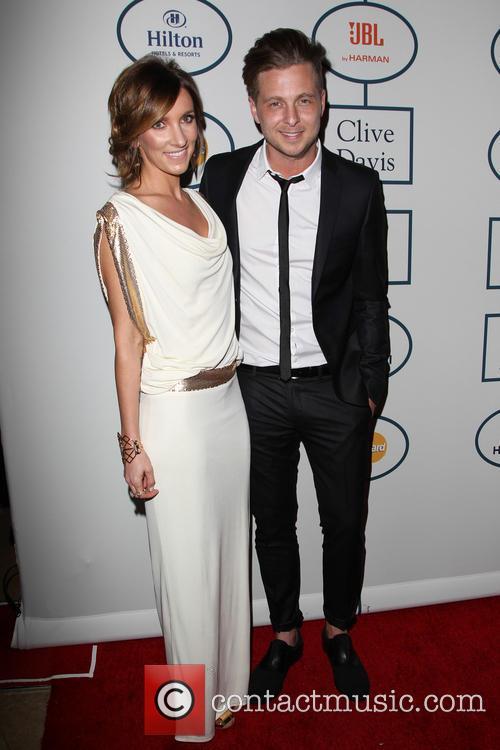 Clive Davis, Genevieve Tedder and Ryan Tedder 1