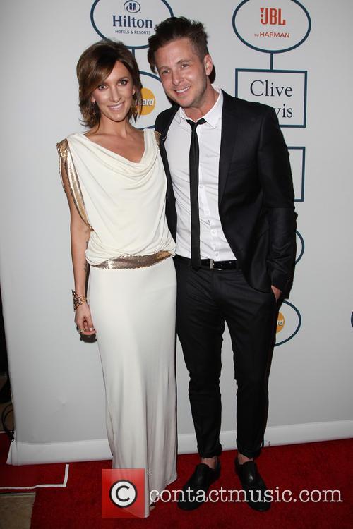 Clive Davis, Genevieve Tedder and Ryan Tedder 5