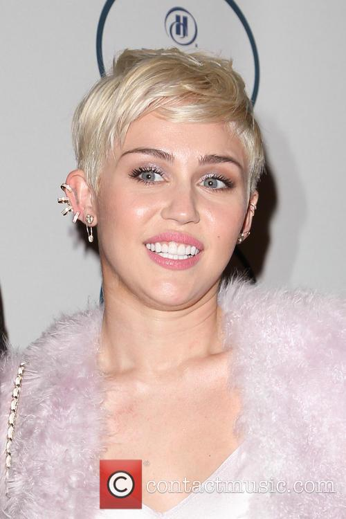 Miley Cyrus at the pre Grammy gala