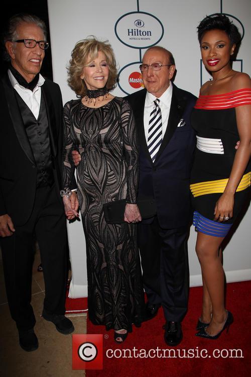 Richard Perry, Jane Fonda, Clive Davis and Jennifer Hudson 1