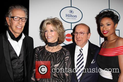 Richard Perry, Jane Fonda, Clive Davis and Jennifer Hudson 2