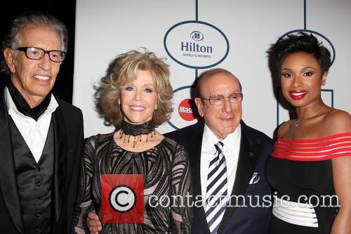 Richard Perry, Jane Fonda, Clive Davis and Jennifer Hudson 3