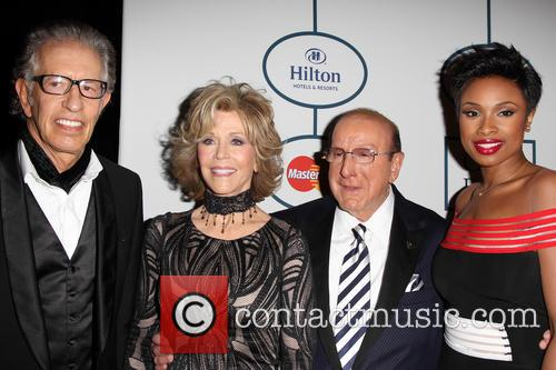 Richard Perry, Jane Fonda, Clive Davis and Jennifer Hudson 4
