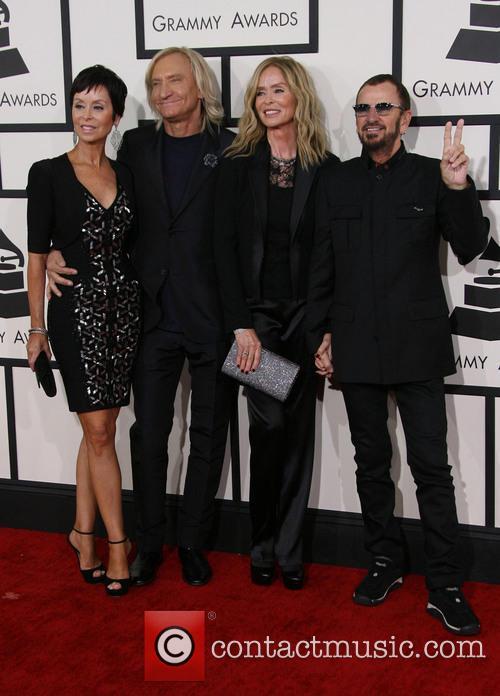 Marjorie Bach, Joe Walsh, Barbara Bach and Ringo Starr 1