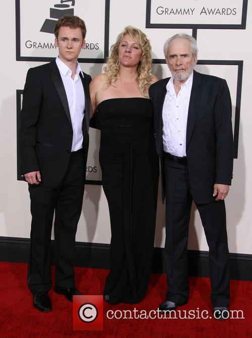 Merle Haggard, Theresa Ann Lane and Ben Haggard 1
