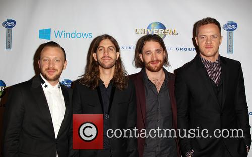 Ben Mckee, Wayne Sermon, Dan Reynolds, Dan Platzman and Imagine Dragons 2