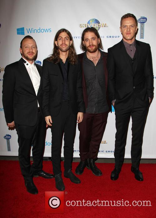 Ben Mckee, Wayne Sermon, Dan Reynolds, Dan Platzman and Imagine Dragons 3