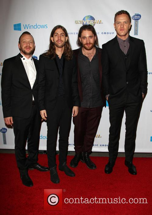 Ben Mckee, Wayne Sermon, Dan Reynolds, Dan Platzman and Imagine Dragons 4