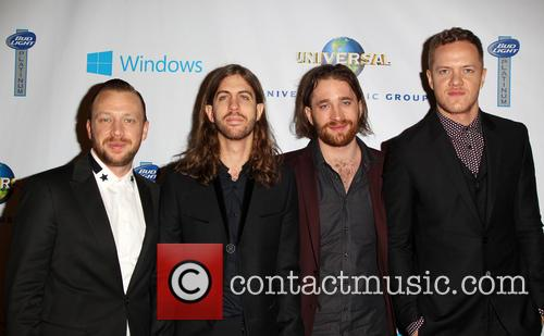 Ben Mckee, Wayne Sermon, Dan Reynolds, Dan Platzman and Imagine Dragons 1