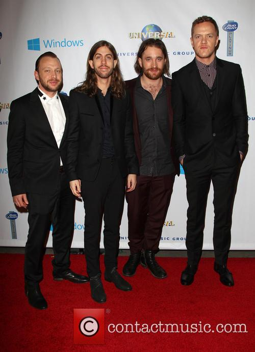 Ben Mckee, Wayne Sermon, Dan Reynolds, Dan Platzman and Imagine Dragons 5