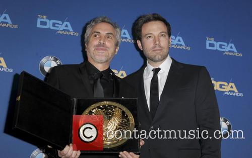 Alfonso Cuaron and Ben Affleck 3