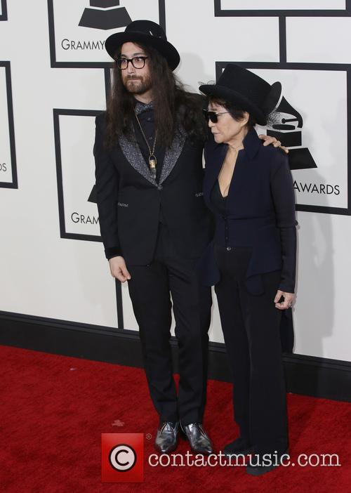 Yoko Ono, Sean Lennon, The Staples Center, Grammy Awards