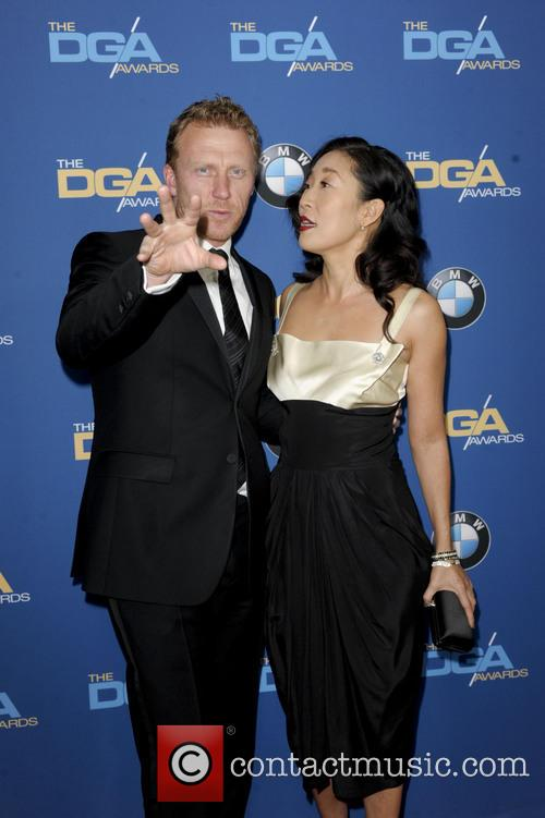 Kevin Mckidd and Sandra Oh