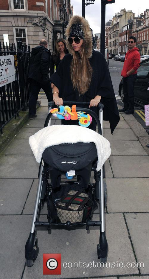 Katie Price and her friend Louise Glover, take her baby son Jet Riviera to  Freedom Health Centre on Harley Street