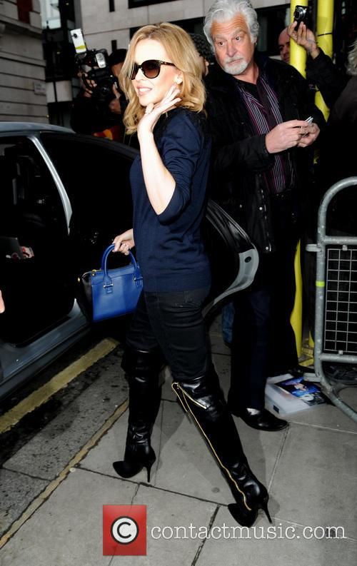 Kylie Minogue leaving the BBC