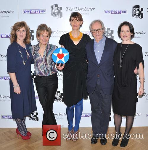 Cast Of The Selfish Giant, Clio Barnard, Tracy O'riordan, Siobhan Finneran, Sean Gilder and Ken Loach