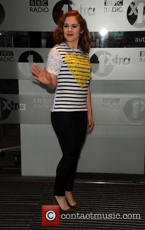 Katy B arrives at Radio 1