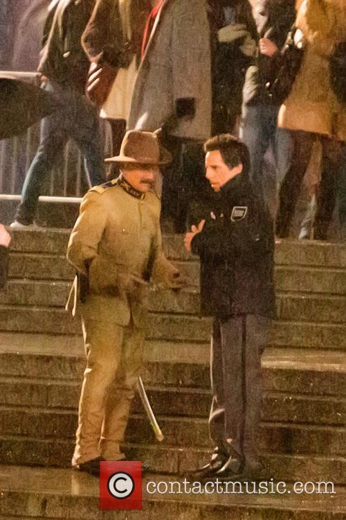 ben stiller robin williams filming on the set 4321735