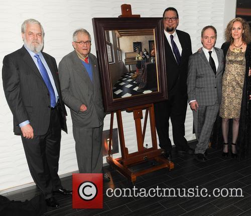 Tim Jensison, Artist David Hockney, Penn Jillette, Teller and Farley Ziegler 2