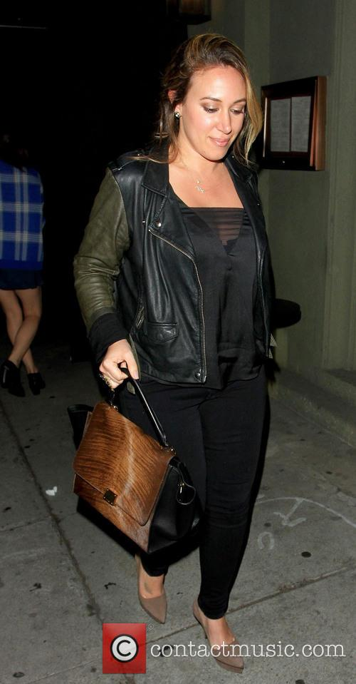 Haylie Duff leaving Craig's in West Hollywood