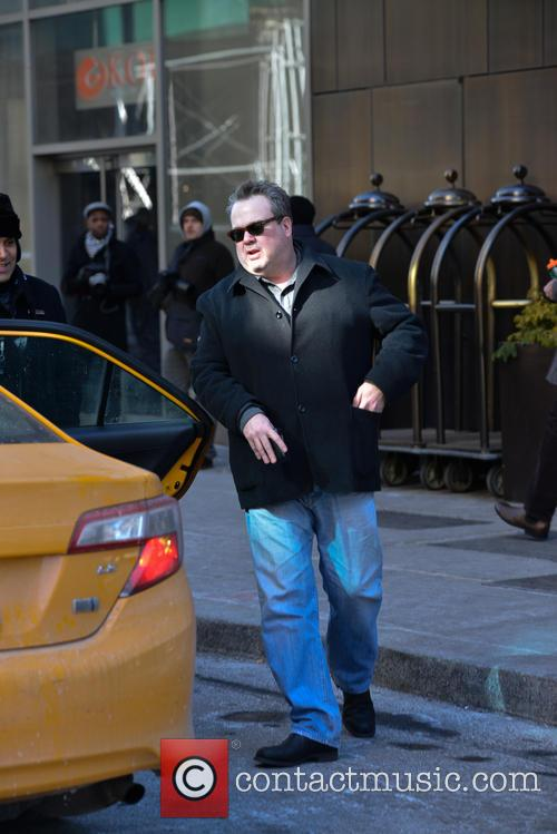 Eric Stonestreet and his mother in New York