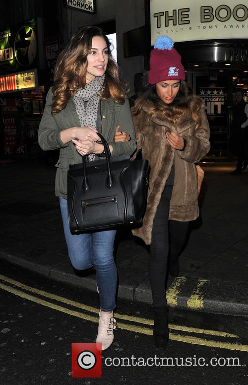 Kelly Brook and Preeya Kalidas At Theatre