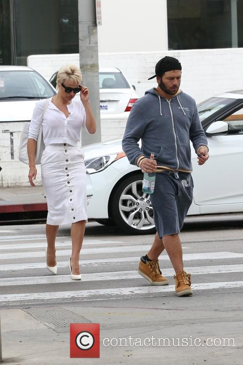 Pamela Anderson and Rick Salomon have breakfast together